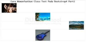 Cara Memanfaatkan Class Gambar Pada Bootstrap 4