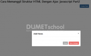 Cara Memanggil Struktur HTML Dengan Ajax Javascript Part1