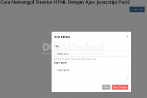 Cara Memanggil Struktur HTML Dengan Ajax Javascript Part2