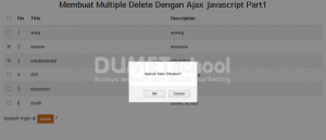 Membuat Multiple Delete Dengan Ajax Javascript Part2