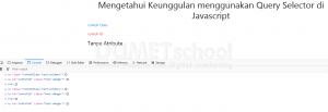 mengetahui keunggulan menggunakan query selector di javascript