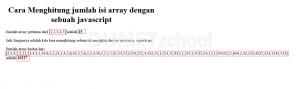 cara menghitung jumlah isi array dengan sebuah javascript