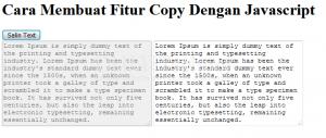 Cara Membuat Fitur Copy Text Dengan Javascript