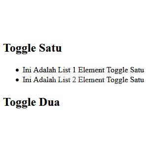 Cara Membuat Multiple Toggle Element Dengan JavaScript