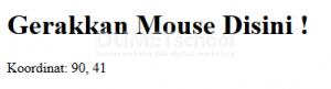 Cara Mengetahui Koordinat Mouse Dengan AngularJs