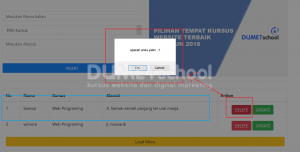 cara sederhana delete data dengan Ajax Jquery
