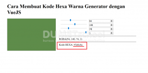 Cara Membuat Kode Hexa Warna Generator dengan VueJS