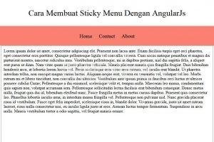 Cara Membuat Sticky Menu Dengan Menggunakan AngularJs