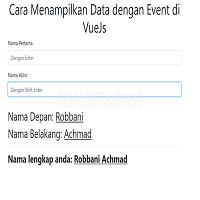 Cara Menampilkan Data dengan Event di VueJS