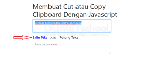 Membuat Copy Clipboard Dengan Javascript