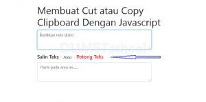 Membuat Cut text Dengan Javascript