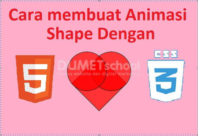 Cara Membuat Animasi Shape Love Dengan HTML CSS