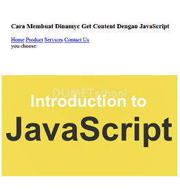 Cara Membuat Dinamyc Get Content Dengan JavaScript
