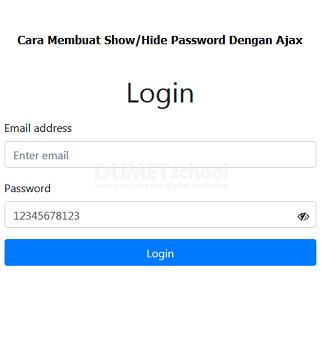 Cara Membuat Show/Hide Password Dengan Ajax