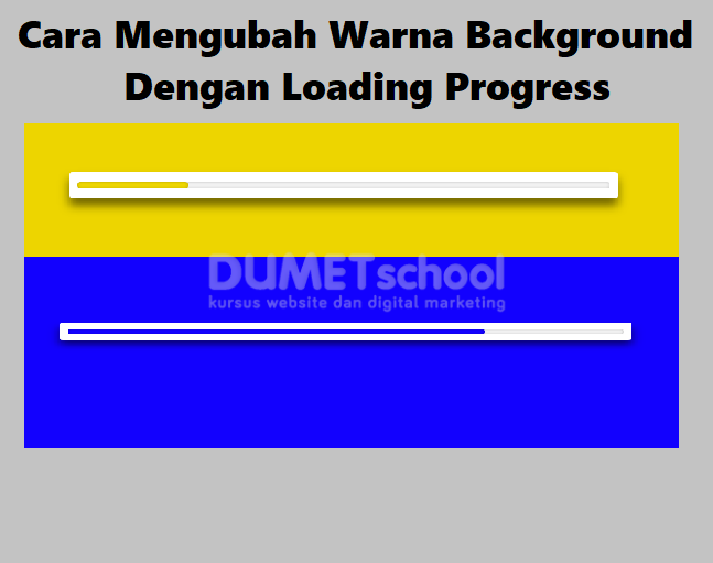 Cara Mengubah Warna Background Menggunakan Loading Progress