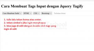 cara membuat tags input dengan jquery tagify