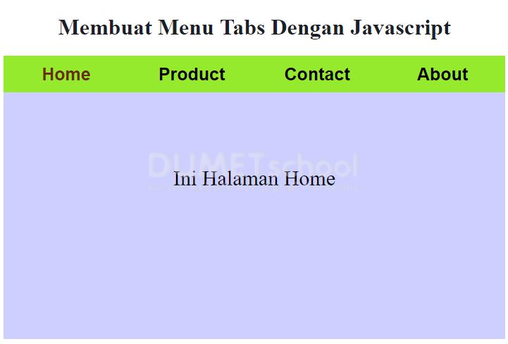 Cara Membuat Tabs Dengan Javascript