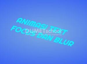 Cara membuat animasi text focus dan blur dengan html css