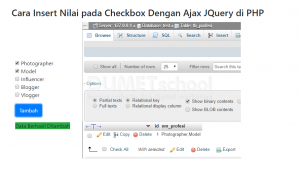 3-Cara Insert Nilai pada Checkbox Dengan Ajax JQuery di PHP