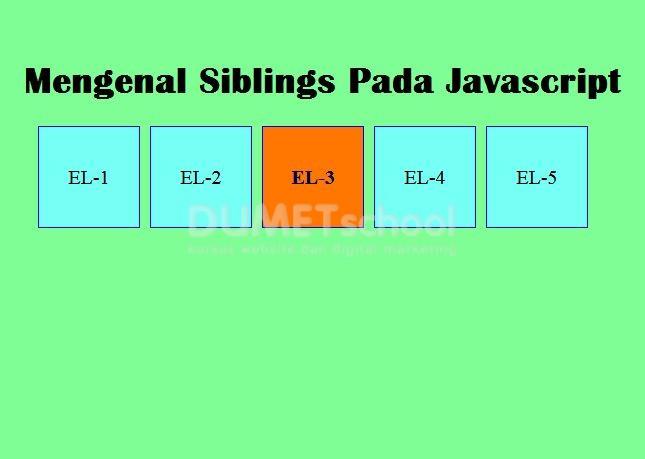 Mengenal Siblings Pada Javascript