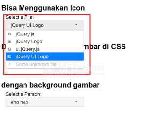 cara menampilkan gambar di select option