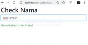 cara mengecek username yang sama dengan Ajax jQuery