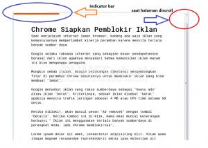 Membuat Indicator Scroll Halaman Websitee