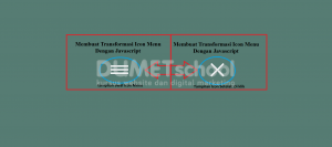 Membuat Transformasi Icon Menu Dengan Javascript