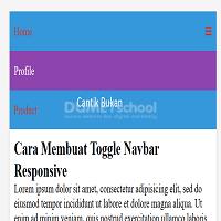 Cara Membuat Toggle Navbar Responsive