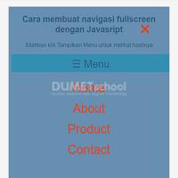 Cara membuat navigasi fullscreen dengan Javasript