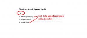 1-Membuat Search Dengan VueJS