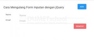 cara mengulang form inputan dengan jQuery