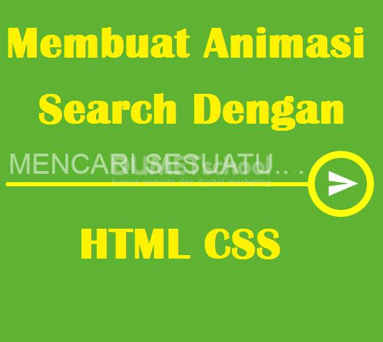 Membuat Animasi Search Bar Dengan HTML CSS