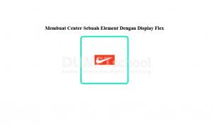 Membuat Center Sebuah Element Dengan Display Flex