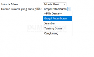 cara menampilkan data select option Ajax