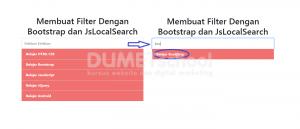 Membuat-Filter Dengan Bootstrap dan Plugin JsLocalSearch