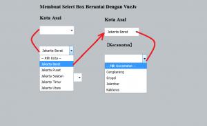 Cara Membuat Select Box Berantai Dengan VueJs