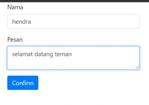 cara mengirim data dari form dengan NodeJS