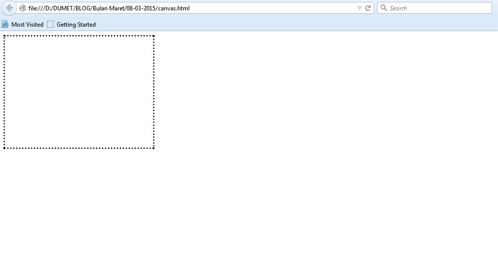 Berkenalan Dengan Canvas Pada HTML 5