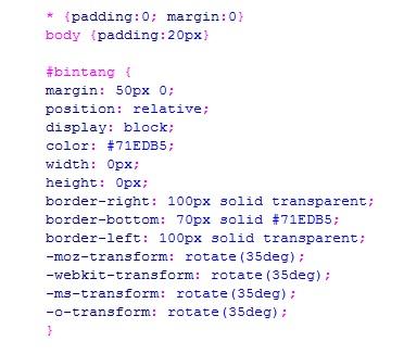 Cara Membuat Bintang Dengan CSS