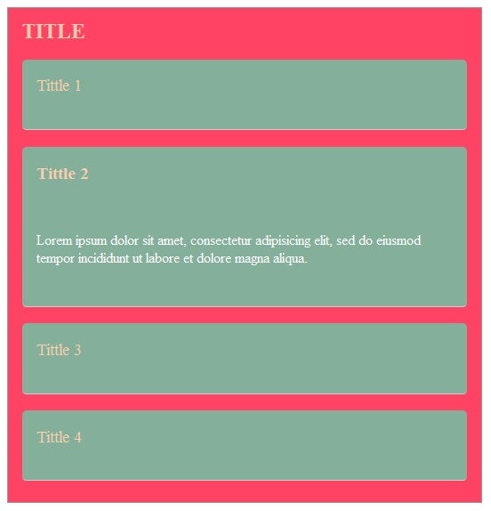 Membuat Accordion CSS3