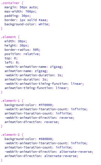 Animasi CSS animation-direction alternate dan alternate-reverse