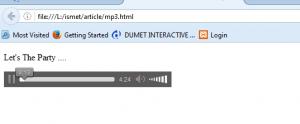 Cara Membuat Pemutaran Musik/Mp3 Auto Play Dengan HTML5