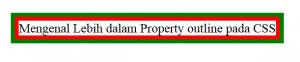Mengenal Lebih dalam Property outline pada CSS