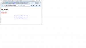 Pengenalan CSS Internal Style Sheet