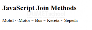 Cara Penggunaan Metode Join() pada Javascript