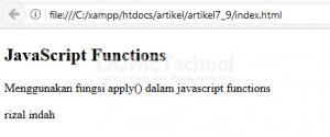 Menggunakan Fungsi apply() dalam Javascrip