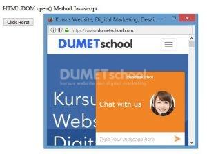 Cara Menggunakan Metode DOM open() pada Javascript