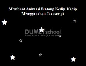 Membuat Animasi Bintang Kedip-Kedip Menggunakan Javascript