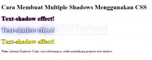 Cara Membuat Multiple Text Shadow Menggunakan CSS